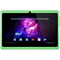 Alldaymall A88X 7 Tablet Android 4.4 Quad Core HD 1024x600, Dual Camera Bluetooth Wi-Fi, 8GB 3D Game Supported - Green