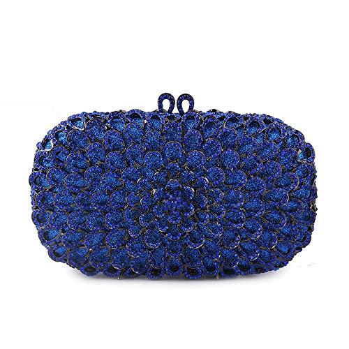 À En Strass De Sac Mallty Blue Diamants color Rempli Serti Main Silver 5qxCnt