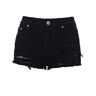 black shorts distressed