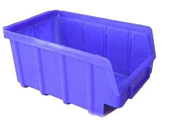 Stapelboxen Gr 2 Blau Sichtlagerboxen Stapelbehalter 30 Stuck