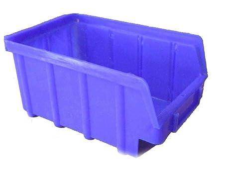 Juego de 20 cajas apilables (tamaño 3), color azul
