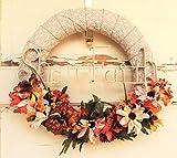 AG Designs Fall Decor - Ribbon Wrapped Wreath Floral Share Faith #613/03