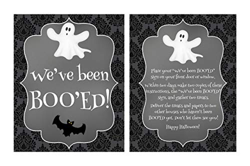 We've been Boo'ed, Halloween Decorations, Halloween Sign, Boo Game, Neighborhood Halloween Game, Boo Sign, Glossy 8x10 Sign
