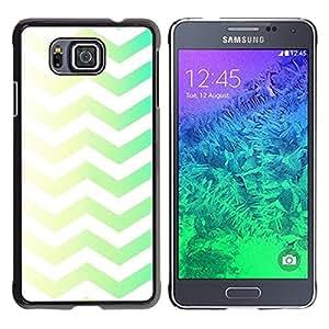 TopCaseStore / la caja del caucho duro de la cubierta de protección de la piel - Pattern Floral Drawing Minimalist - Samsung GALAXY ALPHA G850