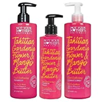 Not Your Mothers Naturals Curl Defining Hair Care Set, Tahitian Gardenia Flower and Mango Butter, Shampoo, Conditioner and Curl Defining Cream