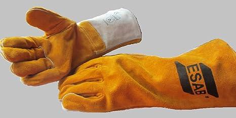 ESAB MIG soldadores, Log quemador guantes resistentes resistente al calor de soldadura