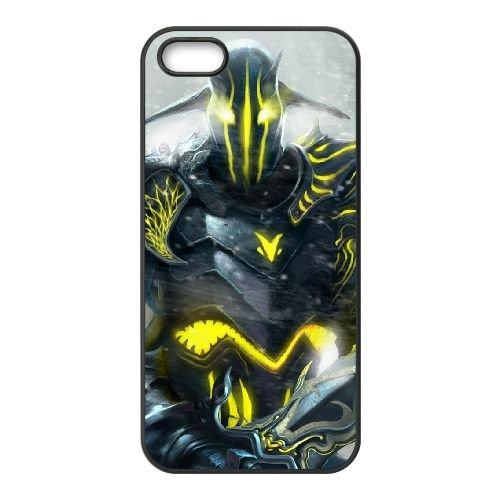 Sven Dota 2 Art 95091 coque iPhone 5 5s cellulaire cas coque de téléphone cas téléphone cellulaire noir couvercle EEECBCAAN07561