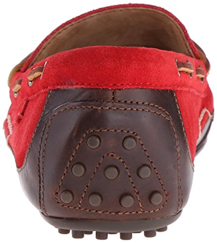 Polo Ralph Lauren Mens Wyndings Mocassino Slip-on Tan / Rosso Reale