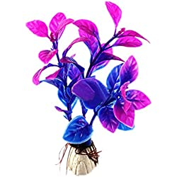 Zeroyoyo 10cm Purple Aquarium Decoration Under Water Artificial Plant Fish Tank Ornament 1pc