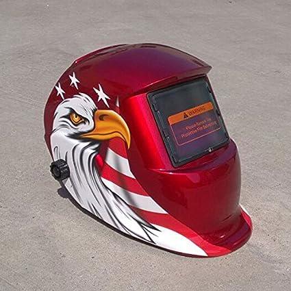 Giantree Casco de soldadura, (águila estrella) Energía solar Auto Tig Soldadura de soldadura Mig Soldadura Soldadores Casco Arco Máscara Protector: ...