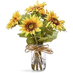 Country Sunflowers Silk Flower Arrangement