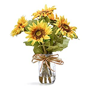 Petals Country Sunflowers Silk Flower Arrangement 8