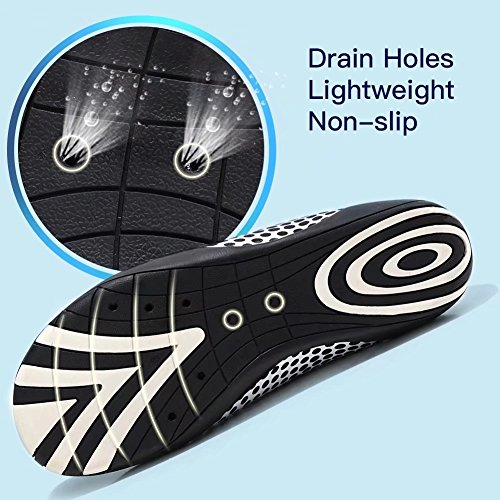 Slip Beach Pool Aqua HOBIBEAR Barefoot Water Men Quick White Yoga Shoes Lightweight for Dry on Dot Socks Boating xxf14O