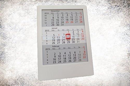 Tischkalender Standard 2 Jahre  2020/2021 weiß