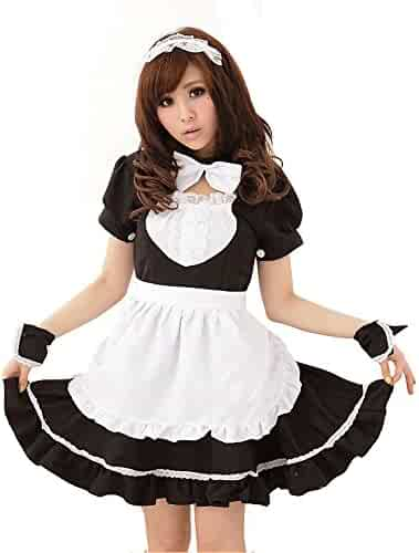 b7290a98ed1 M Eshop Women Sexy Lingerie Outfits Frisky French Maid Sexy Costume for  Cosplay