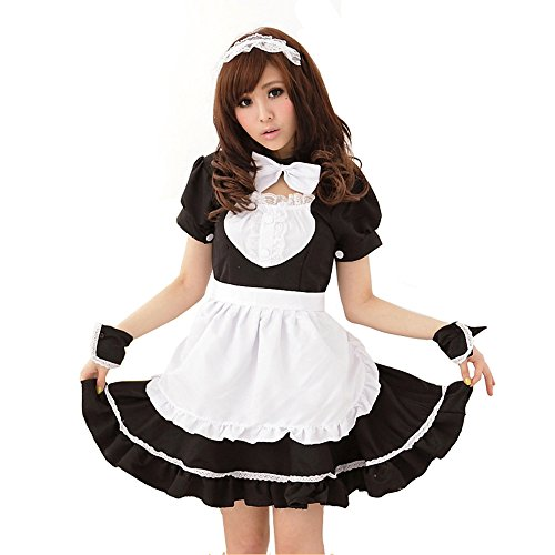M_Eshop Women Sexy Lingerie Outfits Frisky French Maid Sexy Costume For Sex (L)