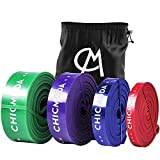 CHICMODA Pull Up Assist Band, Resistance Exercise Bands for Powerlifting Assistance, Stretch Mobility, Workout, Fitness, Strength Training,Green(50-125lb)