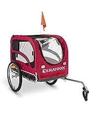Duramaxx King Rex, fietskar voor honden, hondenaanhanger, bagageaanhanger, kleine tot middelgrote honden, hoge dikte, laadruimte: 250 liter volume, maximaal 40 kg, kogelkoppeling voor fietsen met 26 inch - 28 inch.