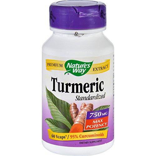 Nature's Way Turmeric – Maximum Potency – 750 mg – 60 Vegetarian Capsules For Sale