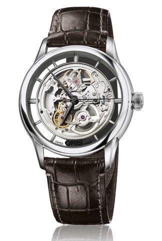 Oris Artelier Esqueleto Dial Brown Cuero Mens Reloj 01 734 7684 4051 - 07 5 21 70 FC por Oris: Amazon.es: Relojes