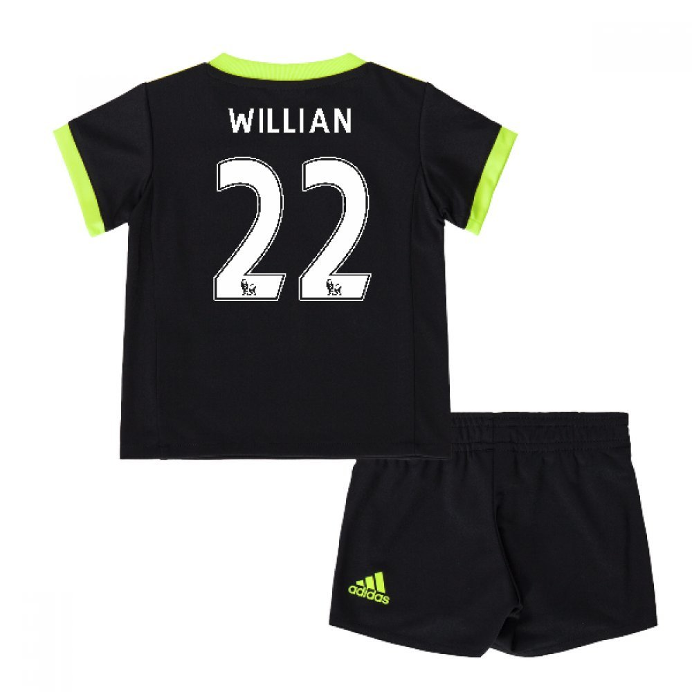 2016-17 Chelsea Away Mini Kit (Willian 22) B0785PTKXVBlack 3-4 Years