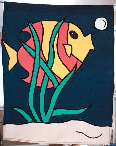(Fish Outdoor Appliqued Garden Flag 17