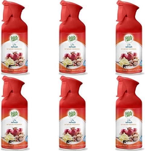 6x Fresh&More Raumspray Short Crust-Apple Lufterfrischer Feiner Sprühnebel-250ml