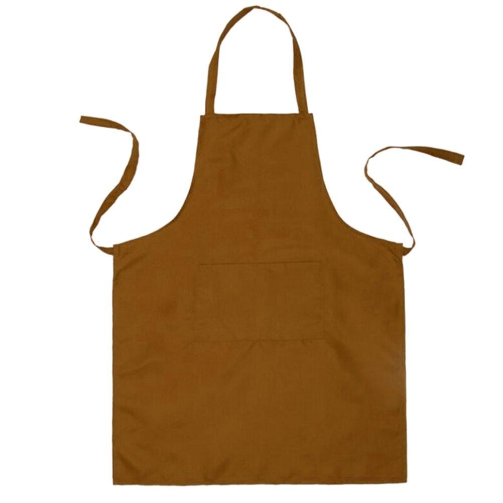 70 cm BESTONZON Delantal de Herramientas de Jard/ín Impermeable Ajustable Delantal de Trabajo para Garaje Cocina Jard/ín con 2 Bolsillos Cafe 60