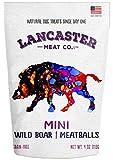 Lancaster Meat Co. Wild Boar Mini Meatballs – USA Made Grain-Free Dog Treats 4 oz