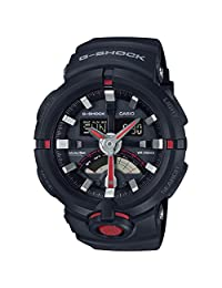 Casio G Shock Urban Black and Red Resin Mens Watch GA500-1A4
