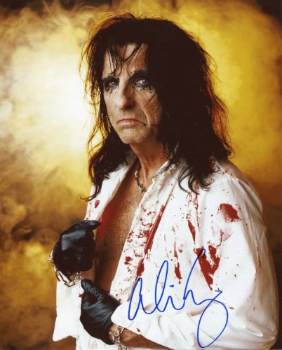 Cooper Signed Photo - Alice Cooper Signed / Autographed 8x10 glossy photo. Includes FANEXPO Certificate of Authenticity and Proof. Entertainment Autograph Original.