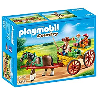 PLAYMOBIL Horse-Drawn Wagon Building Set