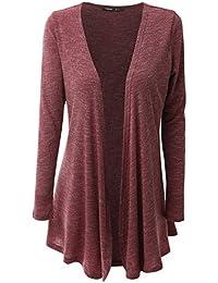 JayJay Women Open Front Casual Knit Long Sleeve Sweater...