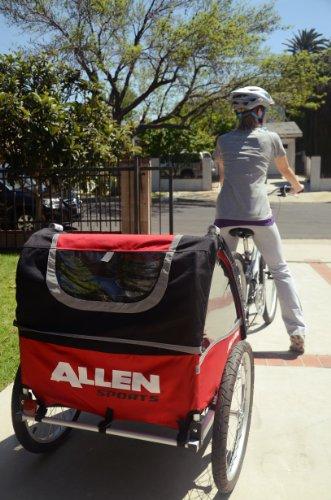 Best of Allen Sports Premium Aluminum 2 Child Bicycle Trailer and Stroller
