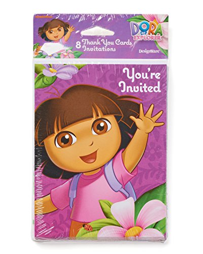American Greetings Dora The Explorer Invite and Thank-You Co