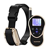HOMMINI Dog Training Collar 880 Yards Remote Controll and Rechargeable Waterproof IPX7 Dog Shock Collar with 8 Levels Beep Vibration&1.5'' LCD display,Shock Collar For All Size Dogs