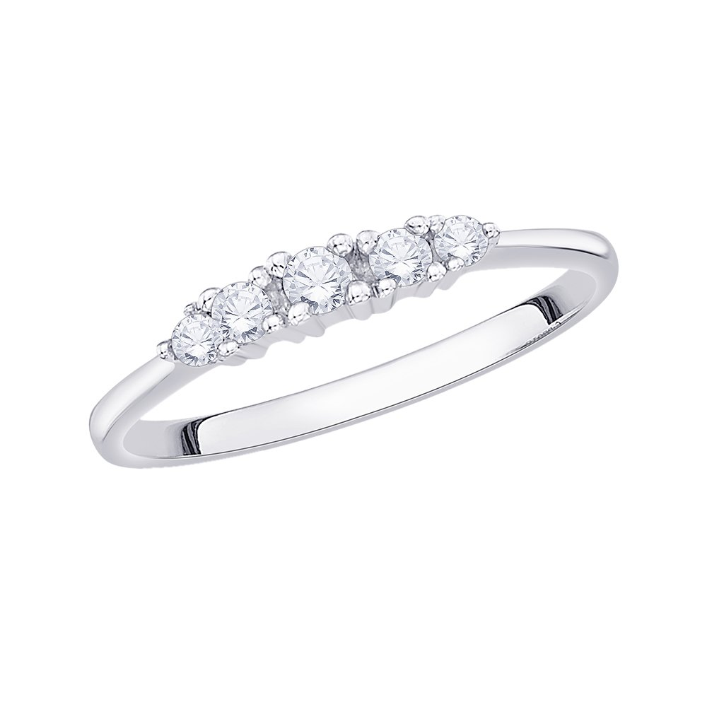Size-4 G-H,I2-I3 1//6 cttw, Diamond Wedding Band in Sterling Silver