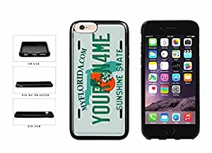 Personalized Custom Florida License Plate TPU RUBBER SILICONE Phone Case Back Cover iPhone 6 Plus (5.5 inches)