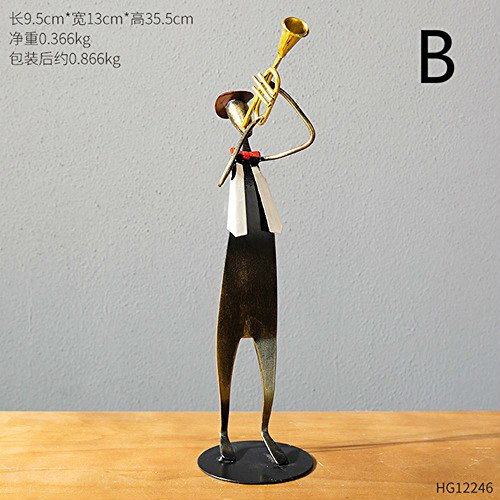 BWLZSP American iron art dormitory room living room desktop musicians crafts Desktop display ornaments sculpture personality LU620433 (Color : B) by BWLZSP