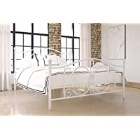DHP Bombay Queen Metal Bed in White