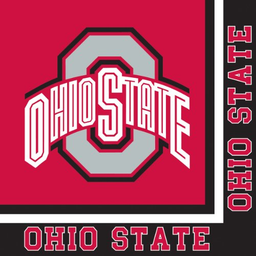 Creative Converting Ohio State Buckeyes Lunch Napkins, 20-Count