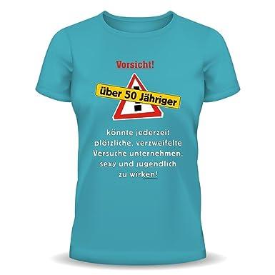 Cumpleaños FUN - Camiseta: Vorsicht. Más de 50 años. Sky ...