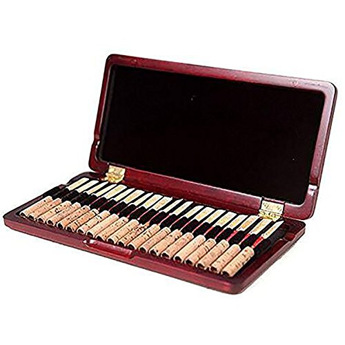 365invent Oboe Reed Case for 20pcs Reeds Maple Wooden (Red Color )