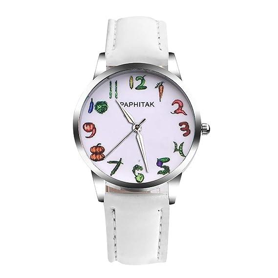 Reloj de Pulsera de Cuarzo analógico con Correa de Piel sintética y Flamenco para Mujer: Amazon.es: Relojes