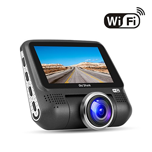 "WiFi Dash Camera - 1080P Full HD Car DVR Dashcam 220 Degree Wide Angle Dash Camera for Cars, 3"" LCD Dashboard Camera, Sony Sensor Car Driving Recorder with G-Sensor, Night Vision, WDR, Parking Mode"