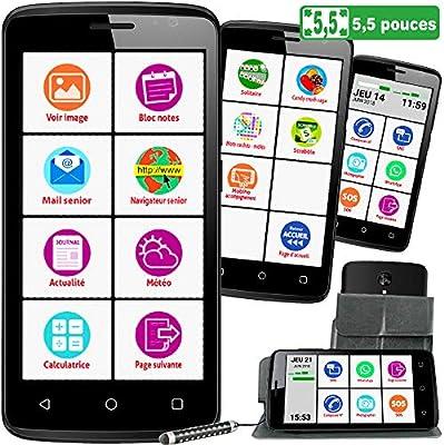 Mobiho-Essentiel Smart D55 con 4 G – el smartphone 5,5 pulgadas ...