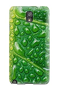 Premium QjTkcmI14389YdrTc Case With Scratch-resistant/ Fresh Watery Leaf Case Cover For Galaxy Note 3