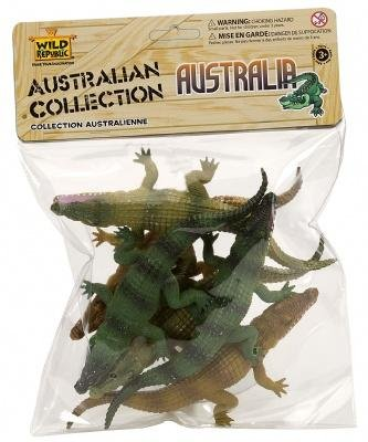 Wild Republic Crocodile Toys, Kids Gifts, Crocodile Party, Australian Toys, Croc Figure, Polybag, 6Piece, Green
