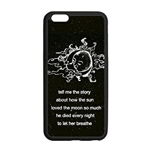 Canting_Good Black Sun and Moon Custom Case Shell Skin for iPhone6 Plus 5.5 (Laser Technology)
