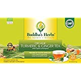 Buddha's Herbs Organic Turmeric, Ginger and Lemongrass Tea, 22 Tea Bags (Pack of 4)